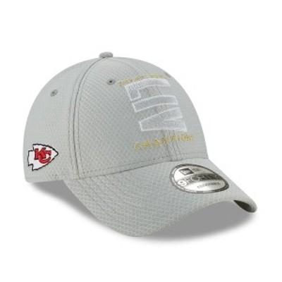 ニューエラ メンズ 帽子 アクセサリー Kansas City Chiefs New Era Super Bowl LIV Champions Parade 9FORTY Adjustable Hat Gray