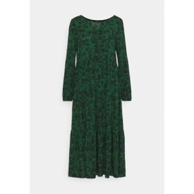エブンアンドオッド レディース ワンピース トップス Volant - Day dress - green/black green/black