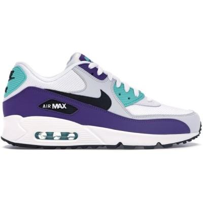"""ナイキ メンズ Nike Air Max 90 """"Grape"""" スニーカー WHITE/BLACK-HYPER JADE-COURT PURPLE-PURE PLATINUM エアマックス90"""