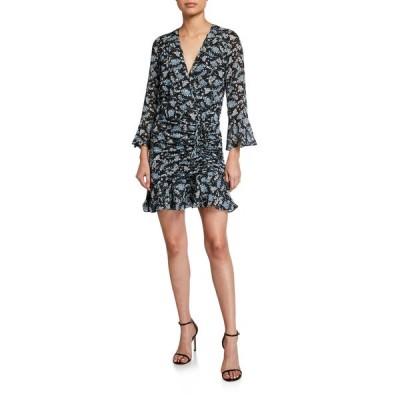 ヴェロニカ ベアード レディース ワンピース トップス Sean Ruched Floral-Print Dress