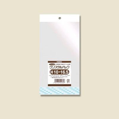 OPP袋 クリスタルパック H10-16.5(ヘッダー付き) HEIKO 100枚
