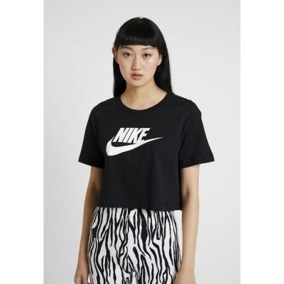 ナイキ Tシャツ レディース トップス TEE - Print T-shirt - black/white
