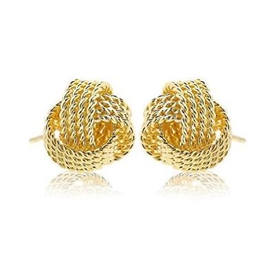 [ナオットジュエリー] 18K ゴールドピアス Twist Gold Pierce (直径 1cm) naotjewelry (01. ゴールド)