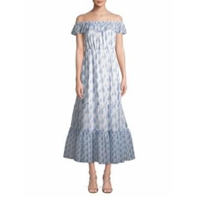 ファースト サイト レディース ワンピース Ruffled Off-The-Shoulder Maxi Dress