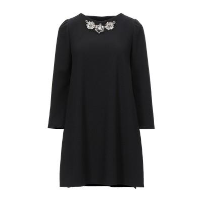 FRANCESCA CONOCI ミニワンピース&ドレス ブラック 40 ポリエステル 100% ミニワンピース&ドレス