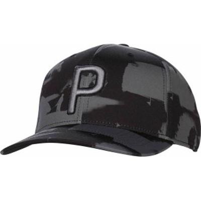プーマ メンズ 帽子 アクセサリー PUMA Men's P 110 Paint Pattern Snapback Golf Hat Black