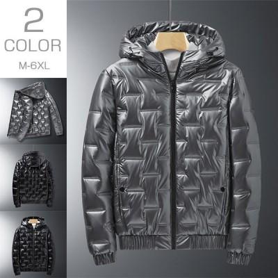 中綿ジャケット メンズ 無地 厚手ジャケット 大きいサイズ アウター コート ジャケット 冬