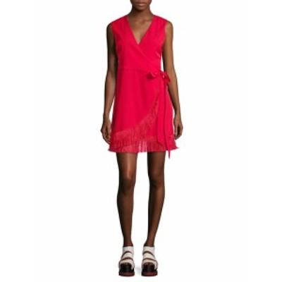 リー&ヴィオラ レディース ワンピース Fringe Trim Wrap Dress