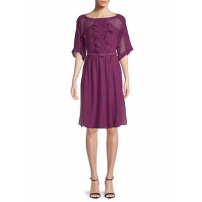 マックスマラ レディース ワンピース Fratte Ruffled Silk Dress