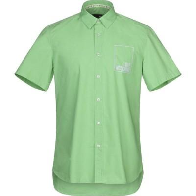 モスキーノ LOVE MOSCHINO メンズ シャツ トップス solid color shirt Light green