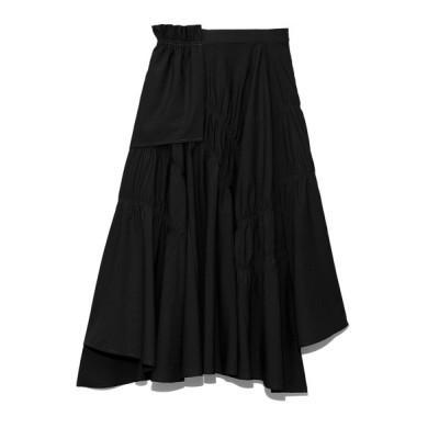 【セルフォード】 シャーリングスカート レディース ブラック 36 CELFORD