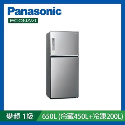 [館長推薦]Panasonic國際牌 650L 雙門 無邊框鋼板 變頻冰箱 晶漾銀 NR-B651TV-S