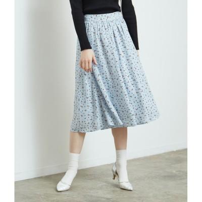 【ロペピクニック/ROPE' PICNIC】 花柄ギャザースカート