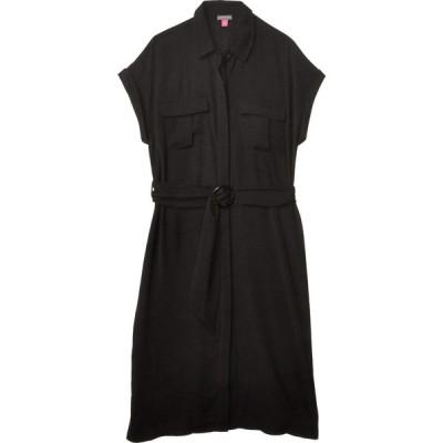 ヴィンス カムート Vince Camuto レディース ワンピース ワンピース・ドレス Short Sleeve Rumple Twill Two-Pocket Belted Dress Rich Black