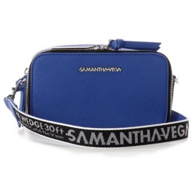 【サマンサベガ】 ロゴテープショルダーバッグ レディース ブルー FREE SAMANTHAVEGA