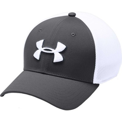 アンダーアーマー Under Armour メンズ 帽子 Threadborne Mesh Golf Hat Graphite/White