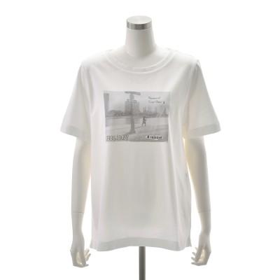 Rejoove フォトデザインのカジュアルプリントTシャツ