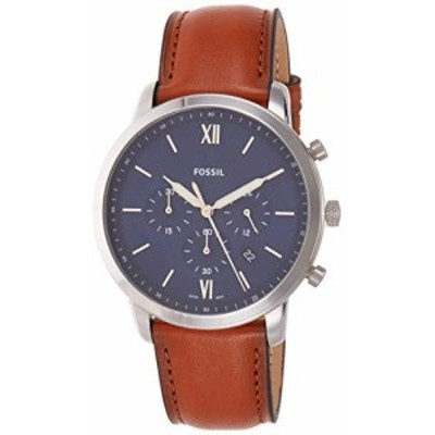 腕時計 フォッシル メンズ Fossil Men's Neutra Chrono Quartz Leather Chronograph Watch, Color: Silver