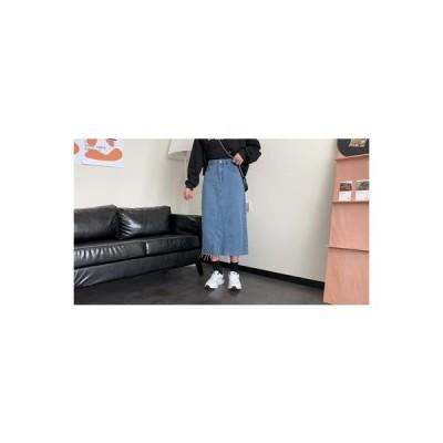 【送料無料】冬 韓国風 デニムスカート 気質 ミディ丈 ハイウエ | 346770_A64324-5536309