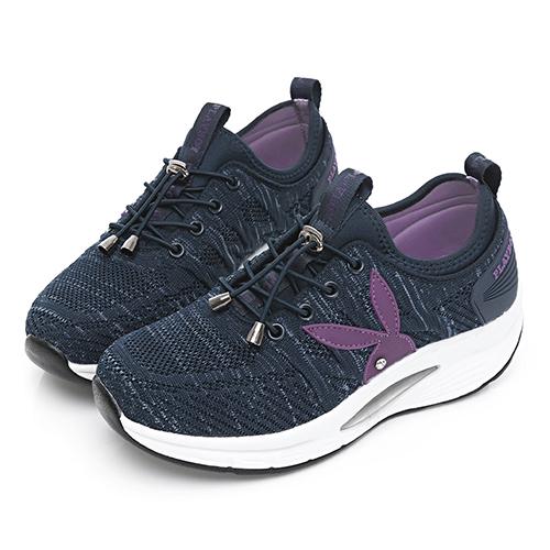 PLAYBOY  舒適動能 足弓氣墊休閒鞋-藍(Y6751)