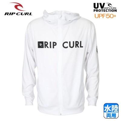 RIP CURL メンズ ラッシュガード ジップアップ パーカー 水着 B01-870 WHT 正規品