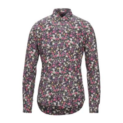 OGNUNOLASUA by CAMICETTASNOB シャツ ブラック 39 コットン 100% シャツ