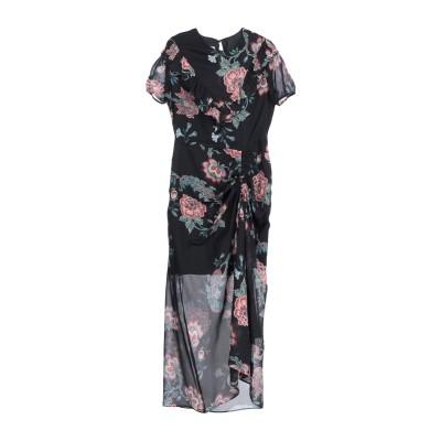 ピンコ PINKO 7分丈ワンピース・ドレス ブラック 40 レーヨン 100% 7分丈ワンピース・ドレス