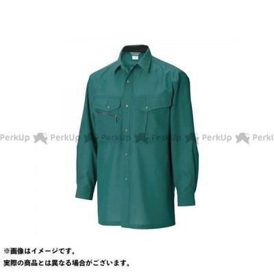 TS DESIGN カジュアルウェア 7105 長袖シャツ(グリーン) サイズ:M TSデザイン