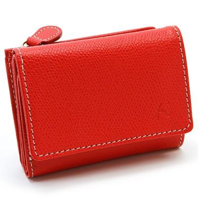[キタムラ]三つ折り財布 PH0635 レッド