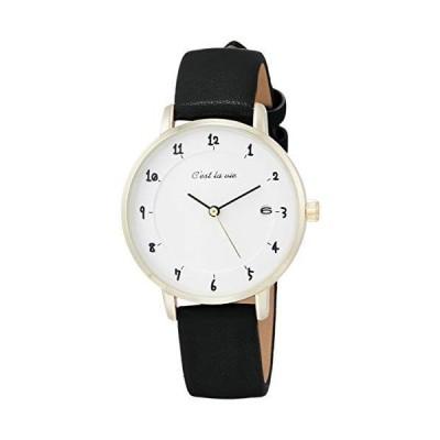 [フィールドワーク] 腕時計 フィールドワーク アナログ セラヴィ 革ベルト ST232-5 レディース ブラック