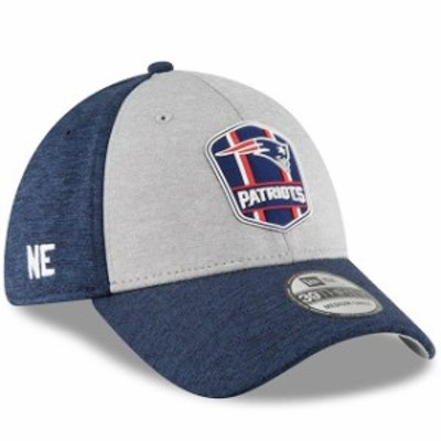 New Era ニュー エラ スポーツ用品  New Era New England Patriots Heather Gray/Navy 2018 NFL Sideline Road Official 39TH