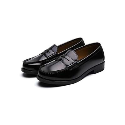 [GIO&GIA] ジオアンドジア レディース 女子 学生靴 スクール ローファ クッション性 インソール 低反発 (ブラック 25.0 cm)