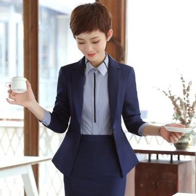 秋と冬の新しいスーツスーツ女性スリムフォーマルドレス学生インタビュー作業服スリーピーススーツ