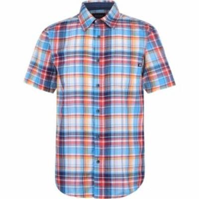 マーモット Marmot メンズ 半袖シャツ トップス Syrocco Short Sleeve Shirt Blue Sea