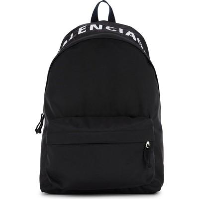 バレンシアガ Balenciaga メンズ バックパック・リュック バッグ Wheel Black Logo Nylon Backpack Black