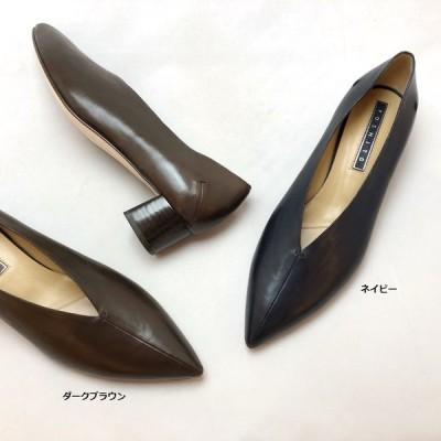 YOSHITO ヨシト パンプス Vカット チャンキーヒール シューズ 靴 85yst0185