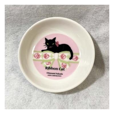 Ribbon Cat リボンキャット フラワー小皿 黒猫 ネコ キャット