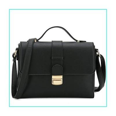 【新品】Catmicoo Crossbody Purses for Women Classic Small Satchel Bags for Women (Black-1)(並行輸入品)