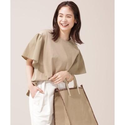 tシャツ Tシャツ WEB限定/布帛切替フレアスリーブカットソー 半袖