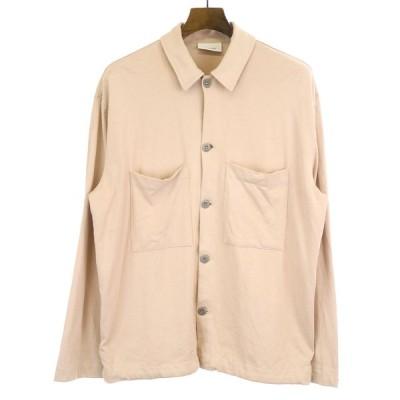 LEMAIRE ルメール 19SS JERSEY OVER SHIRT コットンジャージーオーバーサイズシャツジャケット ピンク XS メンズ