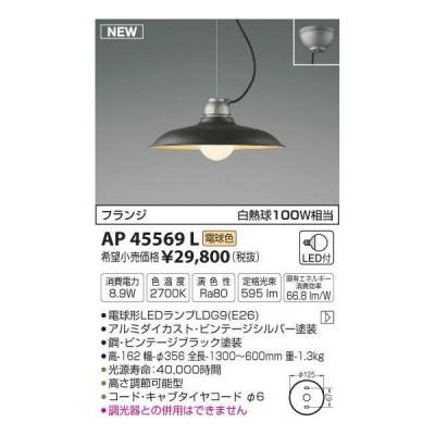 【LEDペンダント】【電球色 on−offタイプ】【直付タイプ】AP45569L
