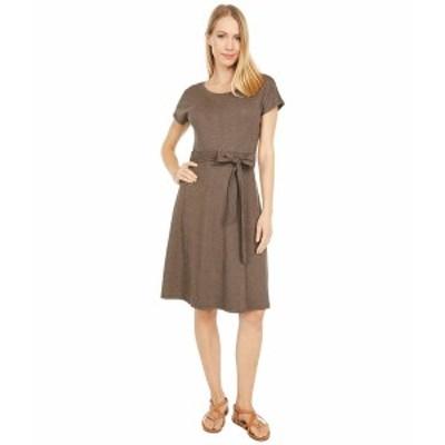 ドード アンドコー レディース ワンピース トップス Cue Wrap Short Sleeve Dress Chestnut Houndstooth Print
