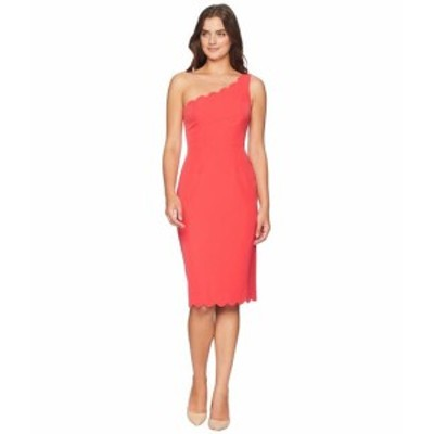 Maggy London マギーロンドン ドレス 一般 Solid Crepe One Shoulder Sheath with Scallop Detail