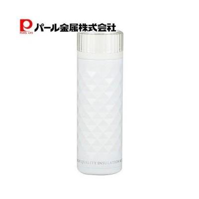 パール金属 カフェマグ 軽量ダイヤカットマグボトル350mL ホワイト・HB-2901