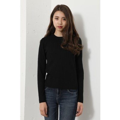 【リエンダ/rienda】 Wide Rib Bottle N/C Knit TOP