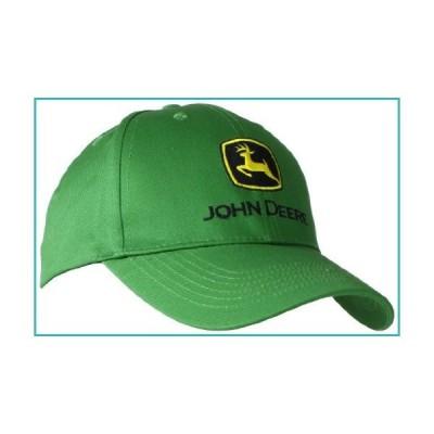 John Deere Embroidered Logo Baseball Hat - One-Size - Men's - John Deere Green【並行輸入品】