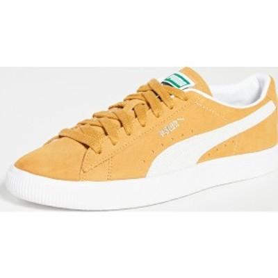 (取寄)プーマ メンズ セレクト スエード VTG スニーカー PUMA Select Men's Suede VTG Sneakers HoneyMustard PumaWhite