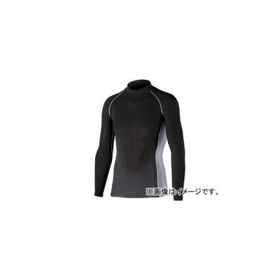 おたふく 冷感・消臭 パワーストレッチ長袖ハイネックシャツ ブラック 3L JW-625-BK-3L(7591110)