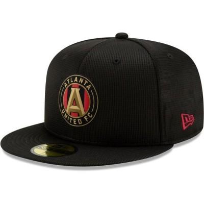 ユニセックス スポーツリーグ サッカー Atlanta United FC New Era On-Field 59FIFTY Fitted Hat - Black 帽子