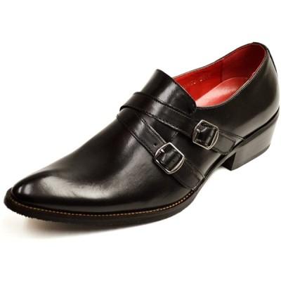 [ジーノ] 【選べるビジネス】 ビジネスシューズ メンズ 革靴 靴 ロングノーズ フォーマル レースアップ モンクストラップ ヒールアップ 紳士靴 男
